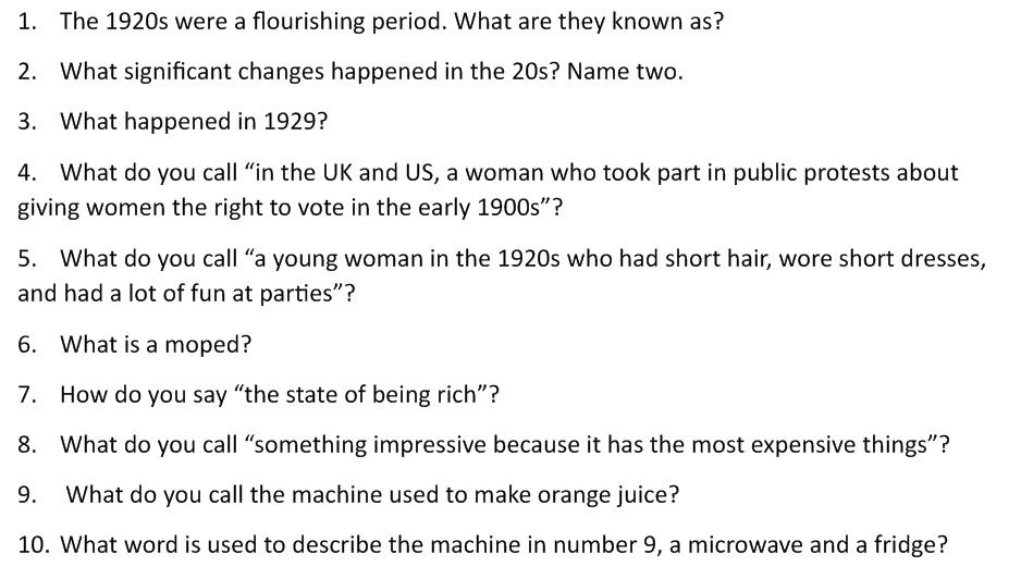 Gatsby Essay Questions